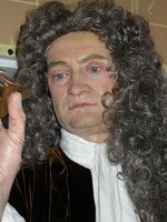 Isaac Newton - vaxdocka p� Madame Tussauds i London